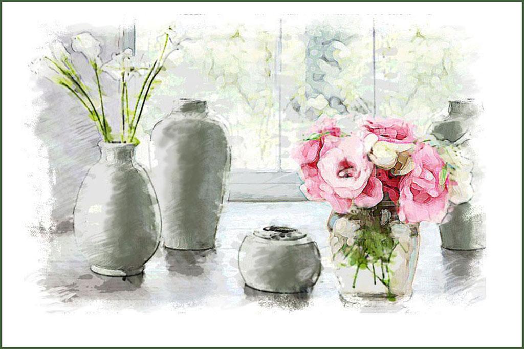 Танюкевич В. Натюрморт с вазами