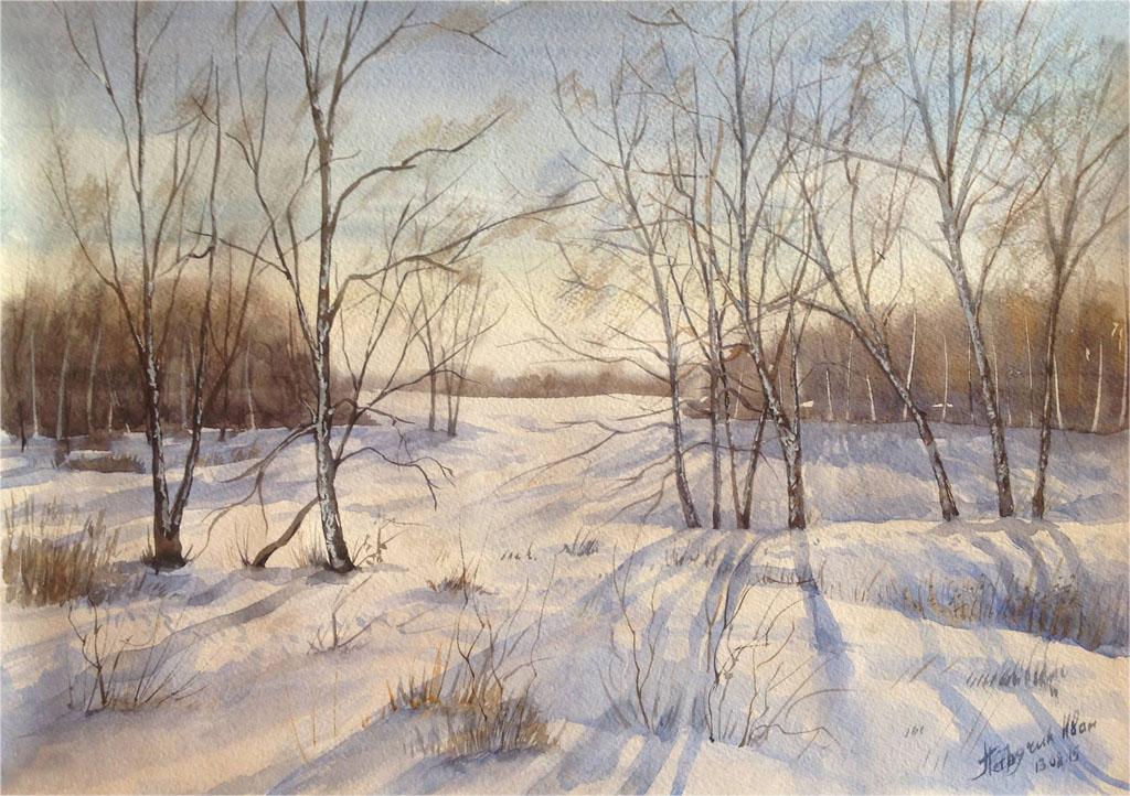Петручик И. Зимний белорусский лес