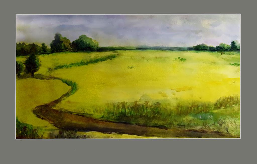 Киченок А. Дорога в желтом поле