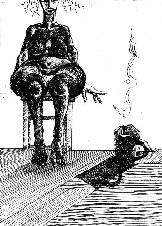 Ляпин А. Натурщица, бросающая сигарету