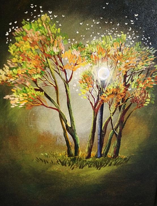 Котович Е. Вечерний свет. Деревья