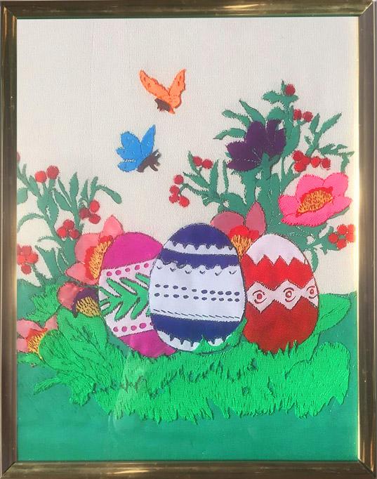 Будник В. «Пасхальные яйца» (вышивка)