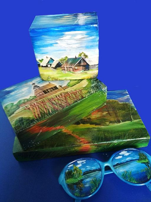 Котович Е. «Деревенские пейзажи» (объемные миниатюры)