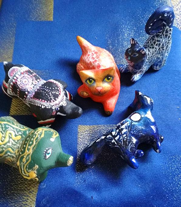 Котович Е. «Мартовские коты»(2) (объемные миниатюры)
