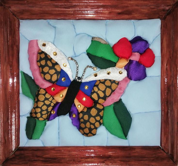 Шершнев А. «Пробуждение весны» (ткань на пенопласте в технике «кинусайга»)